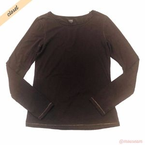 [Alo Yoga] Brown CoolFit Long Sleeve Tee Shirt